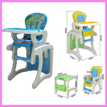 One Set Folding Portable Baby Multifunctional Adjustable Dinning Chair Highchair Child 2 In 1 Safety Eatting Table Dinner Chair
