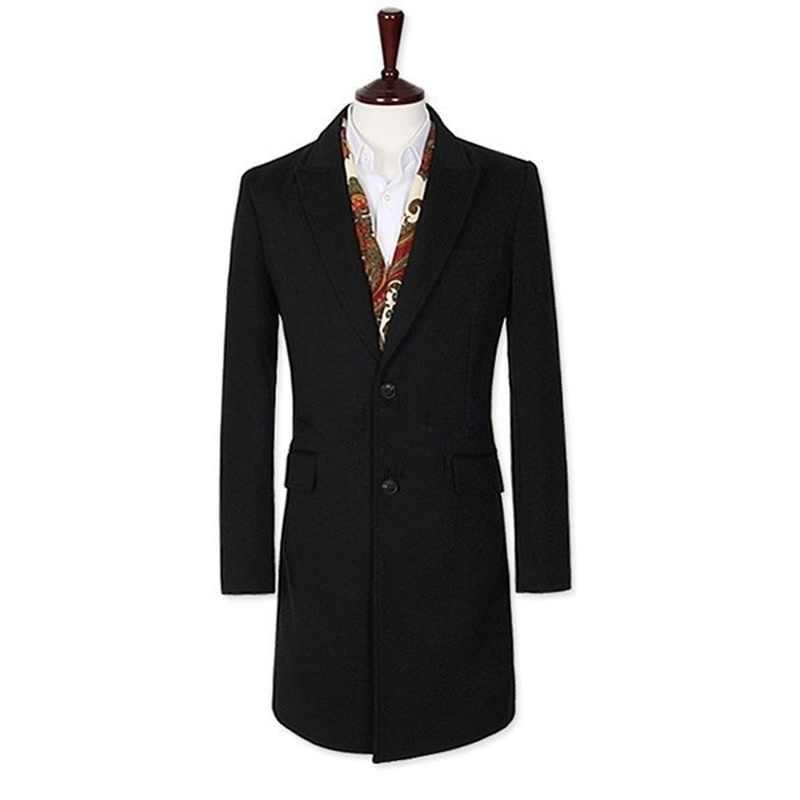 Zogaa мужской тренчкот отложной воротник длинный рукав мужской кардиган верхняя одежда ветровка Повседневный приталенный жакет Деловая одежда