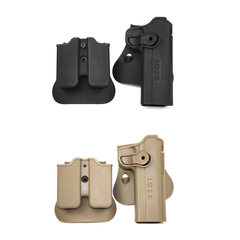 Military Army 1911 Gun Holster and Double Magazine Holster Fits For 1911 Style Airsoft free shipping image