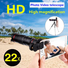 HD 4K 22x Zoom Mobile Phone Telescope Lens Telephoto External Smartphone Camera Lenses For IPhone Sumsung huawei phones(China)