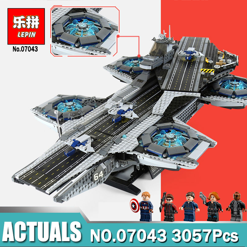 LEPIN 07043 3057Pcs Super Heroes The Shield Helicarrier Model Building Blocks Bricks Toys for Children Compatible legoing 76042 купить