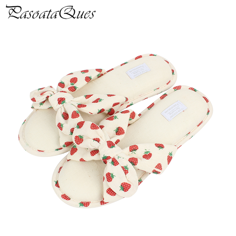 2017 Winter Autumn Big Bowknot Women Slippers Flats Comfortable Indoor House Fashion Women Home Shoes Pasoataques Brand 140 new spring cute women slippers breathable comfortable soft house indoor home women shoes pasoataques brand