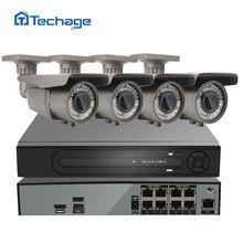 H.265 8CH 4 K 48 V POE NVR Sistema CCTV DVR HD 4 UNIDS 4.0MP Cámara IP POE 2592*1520 IR Al Aire Libre Video Vigilancia de Seguridad Kit HDD