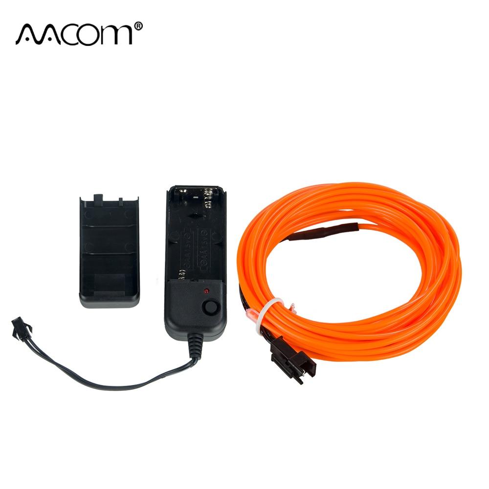 10 mt 20 mt LED Neon Licht EL Draht 10 Farben Flexible LED Streifen Licht USB Auto Interface Für Tanzen partei Auto Dekoration Beleuchtung