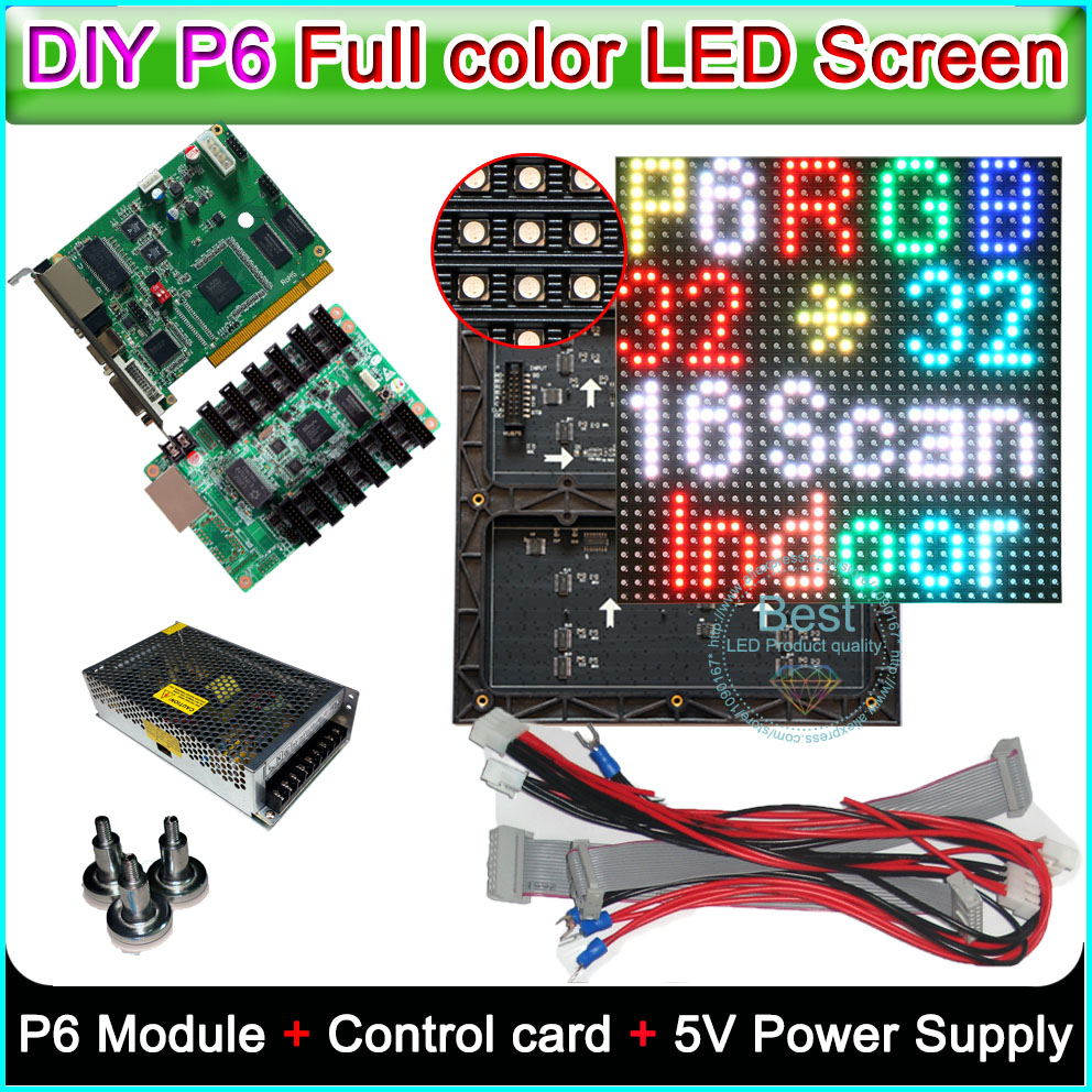 LED Display Indoor full color P6 SMD Module 24Pcs +Linsn TS802D Sending card +RV908 Receiving card+power supply 3PcsLED Display Indoor full color P6 SMD Module 24Pcs +Linsn TS802D Sending card +RV908 Receiving card+power supply 3Pcs