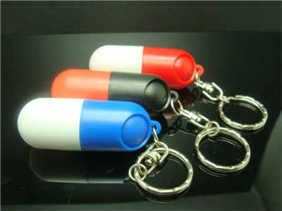 Nieuwe Hoge Kwaliteit Draagbare Waterdichte Mini Plastic Sleutelhanger Tablet Opbergdoos Fles Case Houder