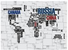 Custom photo wallpapers 3d murals Contracted world map letters bricks TV setting wall papers for living room decoration