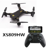 NEW XS809HW RC Drone With Camera Mini Foldable Drones With WiFi FPV HD Camera Altitude Hold
