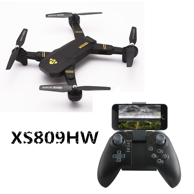 VISUO RC Drones XS809 XS809W XS809HW Mini Drone With Camera HD Foldable Quadcopter WiFi FPV RTF Dron Altitude Hold RC Helicopter global drone rc selfie drones with camera hd wifi fpv quadcopter 8807 foldable drone with camera vs h37 jy018 xs809hw