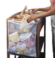 Подвесная сумка для хранения детской кроватки  органайзер для кроватки  игрушечный подгузник с карманом для кроватки  Комплект постельного...