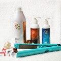 1000ml 5 % tratamiento de queratina Brzailian comprar 3 juegos reciben tratamiento y el cuidado del cabello de argán conjunto queratina libre para el pelo daños