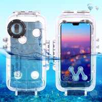 PULUZ for Huawei P20 / P20 Pro Diving Case Mate 20 Pro 40m/130ft Waterproof Housing Photo Video Take Underwater Snorkeling Cover