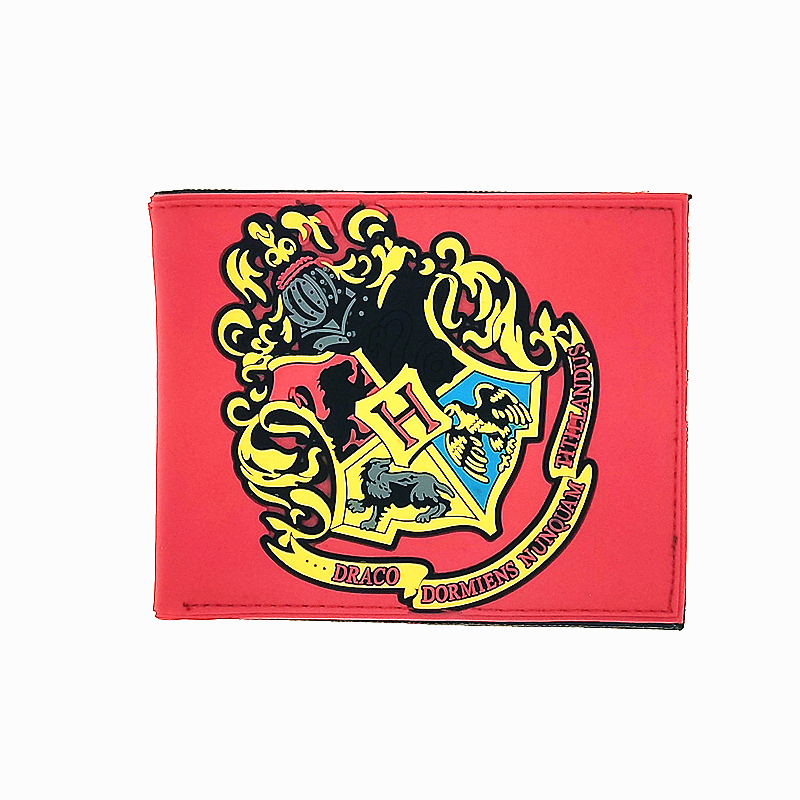 Silicone harry potter wallets short wallets fashion design Gryffindor Slytherin Ravenclaw College men women purse card holder