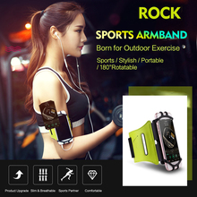 Universal Portable 4.7 5.5 Sports Armband for outdoor exercise running fitness cycling ROCK arm band for iphone 5 6 7 galaxy s8