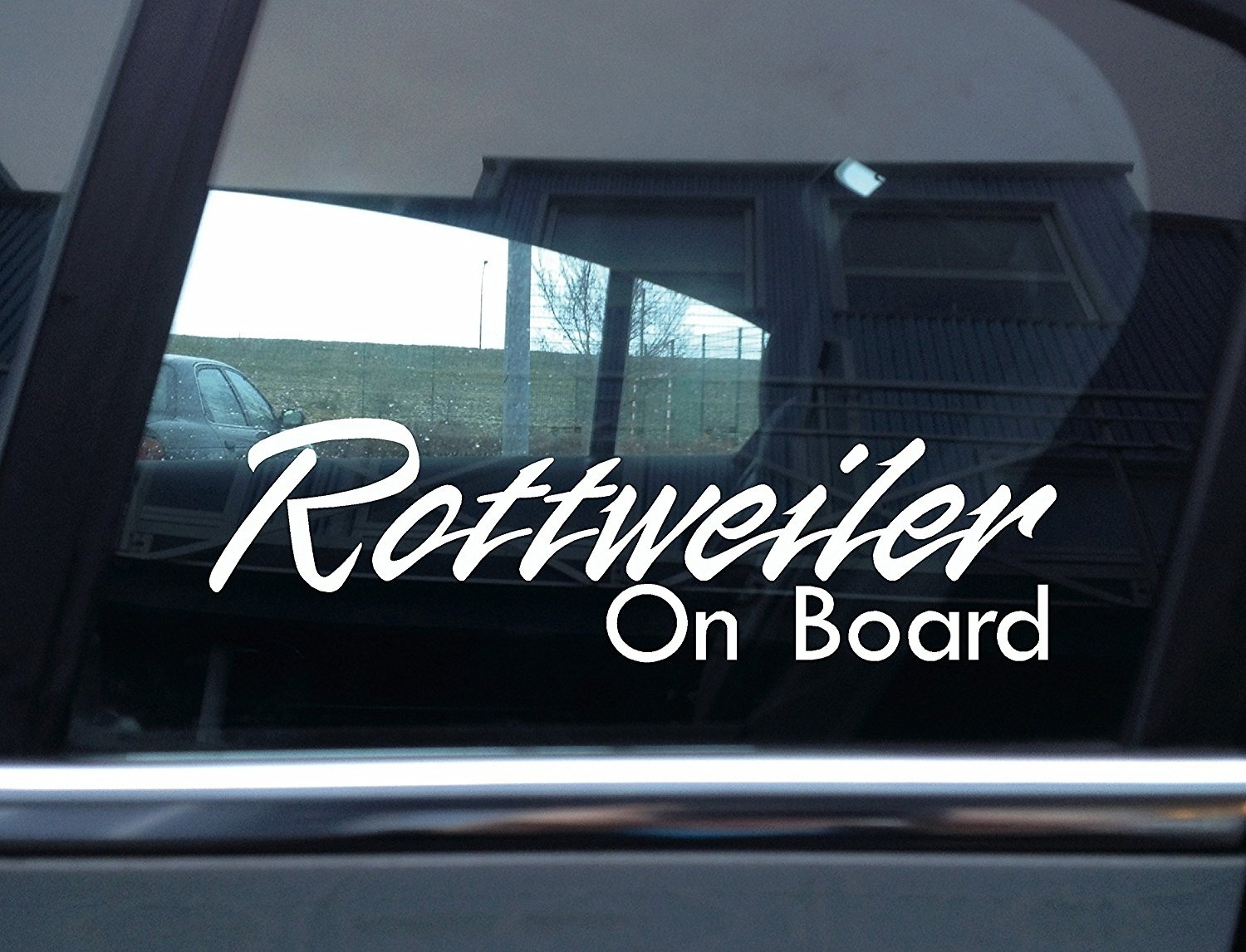 Rottweiler On Board  Dog, Window Vinyl Sticker 15cm