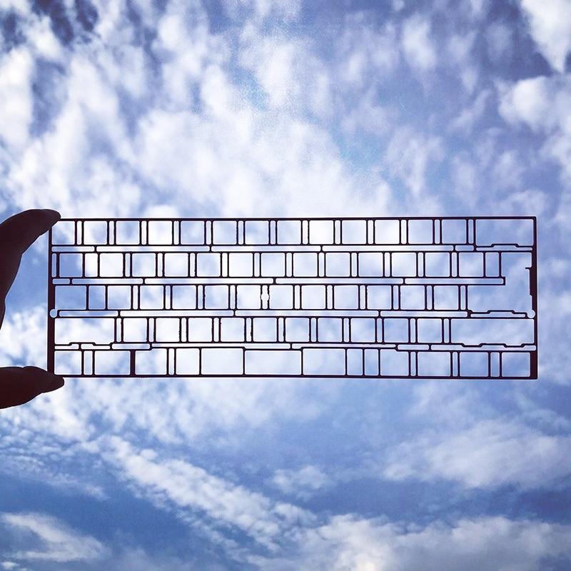 Fibre de carbone 60% plaque fit gh60 dz60 bricolage clavier