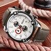 MEGIR Men S Fashion Leather Quartz Watch Casual Sports Watches Men Luxury Brand Waterproof Analog Wristwatches