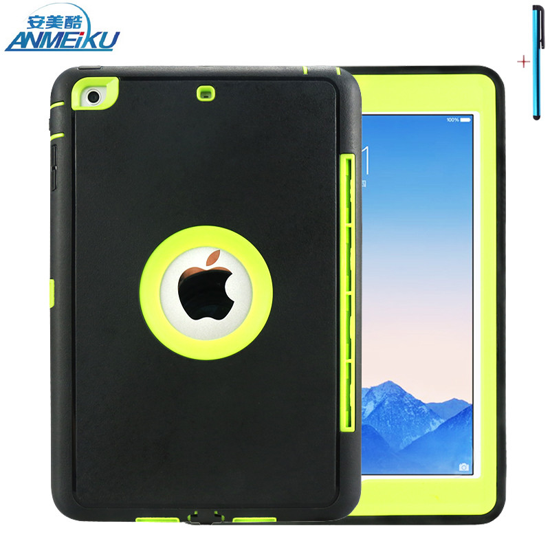 For iPad Mini 1 2 3 Case Safe Protective Case For Kids Shockproof TPU Silicone Drop Resistance Tablet Case For iPad Mini 7.9inch  for ipad mini 3 2 1 kids fun 3d mini cartoon car childproof silicone protective case blue