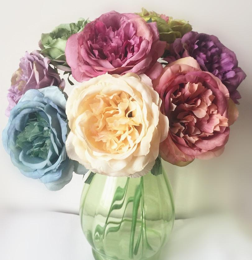 10pcs lažno oljno slikanje učinek Avstralija rose cvet mizo cvet - Prazniki in zabave - Fotografija 2
