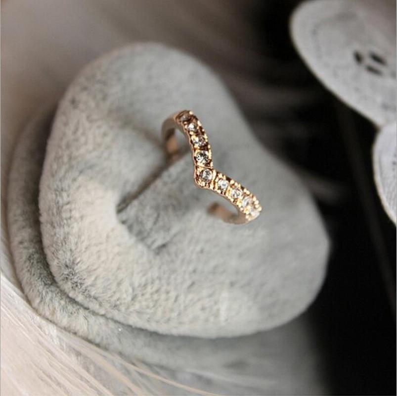 Wholesale Hot Fashion Girl V shape Finger Rings