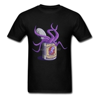 Fresh Cthulhu Tee Shirts Male Crewneck Exercise Awesome T Shirts Men Crew Neck Man On Sale