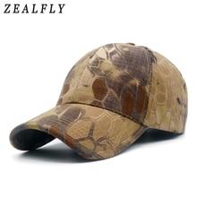 Фотография Men Camouflage Hunting Army Baseball Caps Python Pattern Tactical Fishing Cap Adjustable Snapback Hats For Women