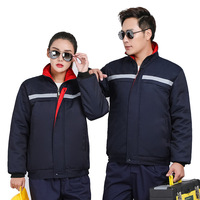 New 2019 Work clothes cotton clothing thermal auto repair service custom cotton jacket winter labor insurance overalls coat