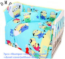 Discount! 6/7pcs Cotton Baby Bedding Set Cartoon Crib Bedding Set ,120*60/120*70cm