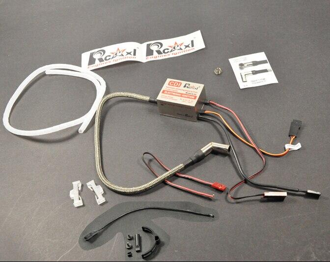 Rcexl Unique Cylindre Allumage CDI Pour ME8 1/4-32 Spark Plug 120 Degrés Avec Universel Support De Capteur 6 V/12 V