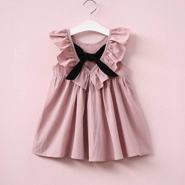 33b5b864a Brand Kids Girls Clothing New Summer Fashion Leak Back Bow Tie Doll ...