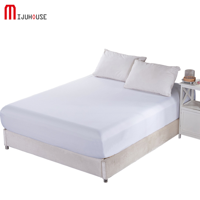 Mattress Cover Fitted Sheet Bedding Bed Sheet Bedding Solid Color Blk  Mattress Protector Cover Microfiber Size