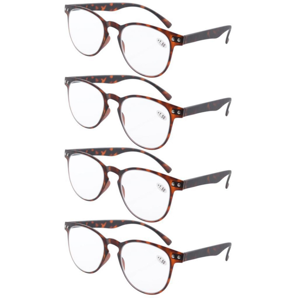 e7dbac06a6a R060 4 Pack Eyekepper Round Full Coverage Ultrathin Flex Frame Reading  Glasses Reading Sunglasses +0.50 +4.00-in Reading Glasses from Apparel  Accessories on ...