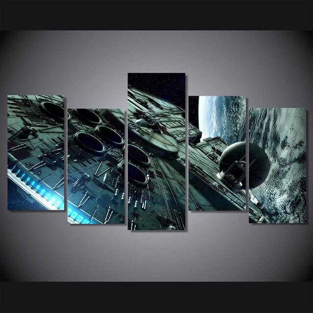 Movie Star Wars Malarstwo Home Wall Art Hd Wydrukowano Millennium