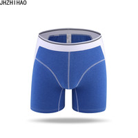 4 pcs / lot Male Panties Men's underwear Extra long Men's boxers Men's shorts cotton stripe underwear Hombre Underpants trunks