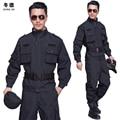 Trajes de primavera y otoño de manga larga de los hombres de seguridad de guardia de seguridad establece servicio de formación masculina uniforme 2 unids conjunto de uniformes de seguridad