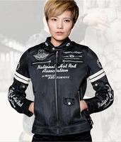 Hot Sales Uglybros Women's Embroidered Motorcycle Jacket Spring / Summer Breathable Racing Jacket Outdoor Ride girl's jacket