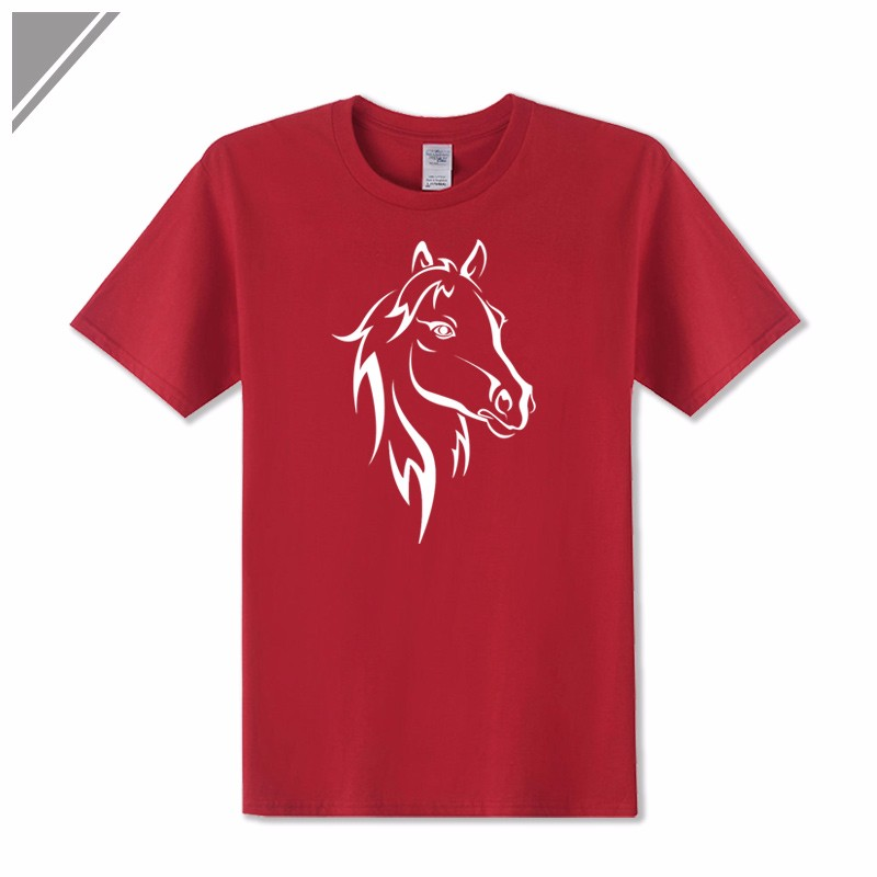 KOLVONANIG 2018 Fashion T Shirt Men Short Sleeve O-neck Cotton Hip Hop Mens Tee Shirts Animal Horse Printed T-Shirts Tshirts Top 7