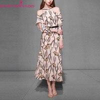 Для женщин с открытыми плечами принт праздничное платье тонкие элегантные сексуальные Холтер Повседневная Офисная Мода Винтаж Макси плать