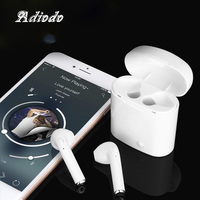 Bluetooth earphone i7s tws i9 Headset Wireless Hand free Stereo Earbud earpiece With Charging Box for All devices with Bluetooth