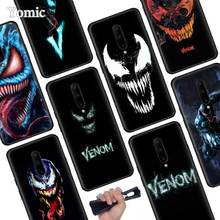 Marvel Venom Super Hero Black Soft Case for Oneplus 7 Pro 7 6T 6 Silicone TPU Phone Cases Cover Coque Shell