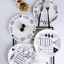 Милая Детская мультяшная десертная тарелка для спагетти, керамическая тарелка для супа, стейк, фруктовое блюдо, фарфоровая посуда, тарелка, Китай