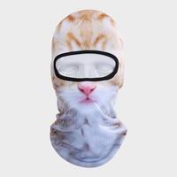 Wolfslaves 3D Print Custom Animal Cat Dog Design Balaclava Motorcycle Hat Cycling Cap Veil Snowboard Windproof