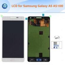 Lcd original para samsung galaxy a5 a500f a500m a5000 pantalla lcd asamblea de cristal digitalizador de pantalla táctil de 5 pulgadas de pantalla + herramientas