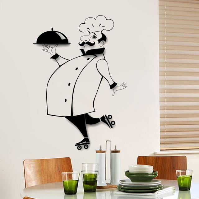 Französisch koch Küche Wandaufkleber Restaurant Kunstwandhauptdekor ...