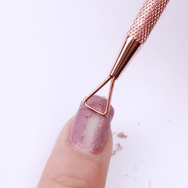 1 Pc Rose Gold Stainless Steel Nail Cuticle Pusher Tools Nail Stick Rod UV Gel Remover Nail Art Tool Nail Manicure Tool