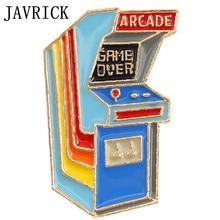 Cartoon Cute Game Machine Table Alloy Brooch Mini Pins Badge Enamel Lapel Pin Cute Dresses Hat Scarf Decor Accessory