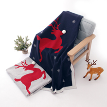 Baby Christmas Blankets Knitted Newborn Bebes Swaddle Wrap Blanket Cotton Infant Stroller Bed Covers 100*80cm Children's Quilt