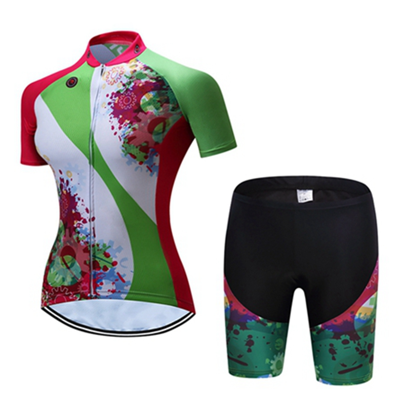 Teleyi Cycling Jersey 2017 women Green cycling clothing set breathable bike jerseys bicycle Mountain mtb clothes ropa ciclismo cycling clothing rushed mtb mavic 2017 bike jerseys men for graffiti cycling polyester breathable bicycle new multicolor s 6xl