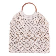 Rattan Cotton Rope Hollow Straw Woven Beach Bag Without Lining Storage Fashion Womens Totes Shoulder Bags