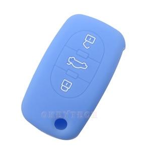 Image 5 - OkeyTech étui de protection pour clé de voiture, en silicone, de réparation à distance pliable, pour Audi A2 A3 A4 A6 A8 TT, coque de protection, nouvelle peau